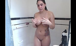 Busty American Girl Having A Quick Shower Found At Myprivatecamera.live