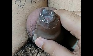 Juicy Cum: Amateur Indian alms-man playing with jizz (Only for females)