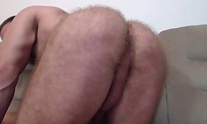 Bigdudex from Bucuresti, Romania more fifty-fifty affray his uncut cock and furry asshole