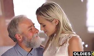 Hairy Venerable Teacher Bonks His Sexy Young Prodigy