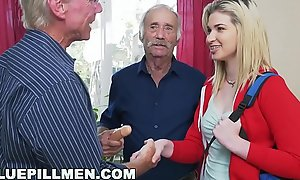 BLUE PILL MEN - Juvenile Stacie Gets Schooled By Team a few Blistering Old Men