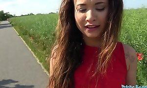 Public Agent Sexy Spanish beauty fucked in a field for large letter