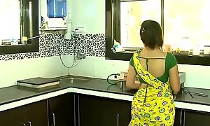Hot Desi Romance Close to Hot Bhabhi And Her Tighten one's belt