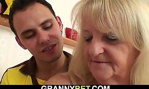 He picks up 60 life-span ancient woman