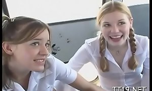 Cute schoolgirl fucked hard and takes a large facial spunk fountain