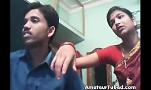 Indian youthful couple on web webcam