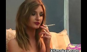 Despondent Smoking Teen Nude Unrestrained