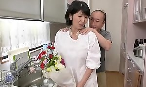 Japanese mother fucks daughter
