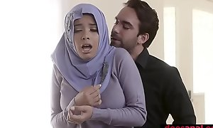 Muslim teen bitch in hijab anal fucked by corrupt agent