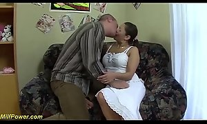chubby big knocker moms first rough anal dance