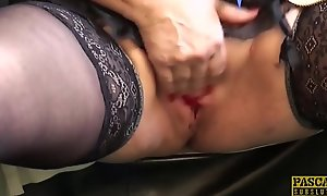 PASCALSSUBSLUTS - Choked granny Carol acquires ballpark anal sex