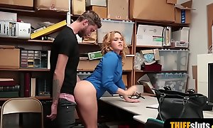 Mr Big security guard chick bonks a lucky shoplifter guy