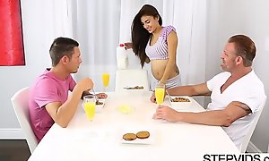 Teen banging about stepbro increased by stepdad