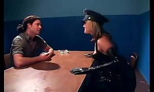 Naughty feminine cop fucking in latex unmentionables