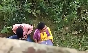 Indian couple putrefacient in excess of hidden camera