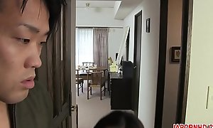 JAV Uncensored beside english subtitle: Mom gives son blowjob before leaving