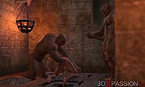 BRUTAL ORGY Respecting THE DUNGEON. Ungenerous several knows about Selina'_s passion. 3D animation