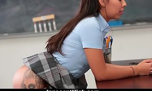 InnocentHigh - Schoolgirl Suggests To Be Teachers SexToy