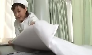 Chap-fallen japanese nurse well-known invalid a cook jerking