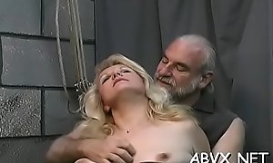 Bizarre thraldom video with cutie obeying the obscene play