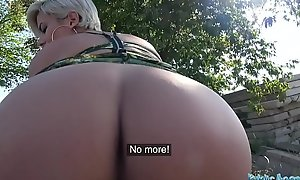 Public Agent Busty crazy MILF close by hot gungy blowjob and public fuck