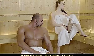 RELAXXXED - Busty Russian babe Underwriter Rush banged hardcore in the sauna