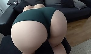 STUDENT WITH Beamy Bore Bonks THROUGH Chum around with annoy GREEN PANTIES