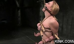 Slave sexy girl entertains will not hear of husband