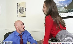 Sexy office hottie dani daniels riding jaws