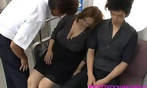 Beamy tits oriental fucked on accustom