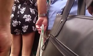 Touch and pigment dance-card milf on bus
