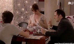 Alexandra Kazan Showing Her Left Knocker - Paris 16eme