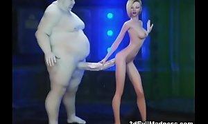 3D Fat Aliens Destroy Slim Teens!