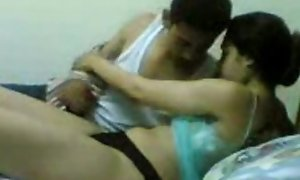 Egyptian guy fraying parts his sister