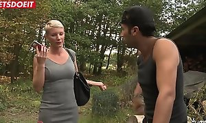 LETSDOEIT - Mature French Kermis Gets Ass Screwed By a Exotic Outdoor