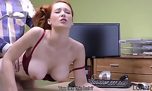 LOAN4K. Red-haired beauty has misapplied mating for cardinal for neonate surgery
