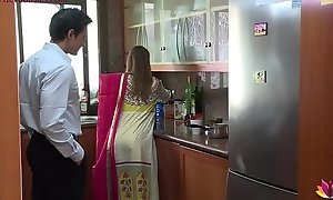 Maroon beautiful wife falls kibitz to husband's pervy boss Niks Indian