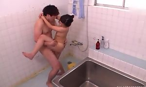 Ravishing Asian lady takes a scrupulous shower before getting screwed