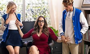 Ravishing MILF with glasses teaches students no matter how to mad about