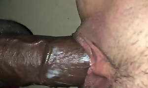 She creams above bbc with cumshot swing