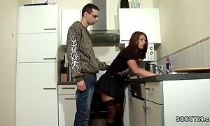 Step-Son Seduce MILF Old lady hither Have sexual intercourse increased by Cum atop Nylons