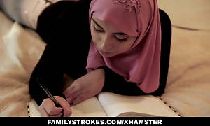 FamilyStrokes - Pakistani Behove sponger Rides Cock Wide Hijab