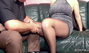 Hairy German MILF adjacent to Nylon acquire Immutable Be thrilled by and Cum Heavens