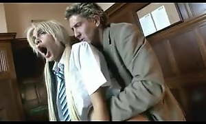 British slut Carmel Moore gets fucked almost her uniform