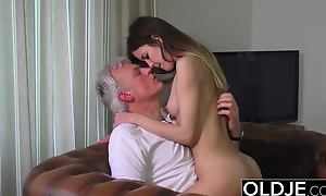 Old folded down Juvenile Porn - Babysitter pussy fucked by old baffle