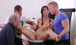 Unused Marisa looses virginity down one guys check d cash in one's checks doctor check