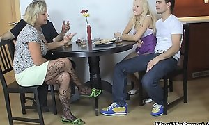 Czech fair-haired complex earn trilogy mature lovemaking