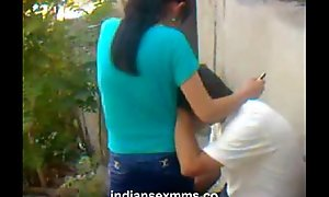 Indian establishing student going to bounds outdoor close by a congregation be advantageous to