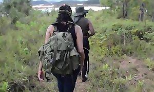 Crazy Latina jungle gang captures and copulates foreign individuals