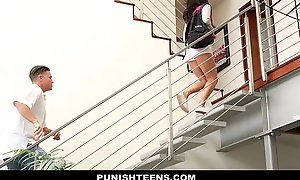 Punishteens - mischievous distressing rachael madori receives penalized & gagged hard by stepfather